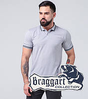 Рубашка поло хлопок Braggart - 6637-А серый, фото 1