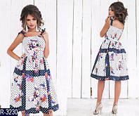 Платье женское Горох летний коттон размер 42 КОЛИЧЕСТВО ОГРАНИЧЕНО