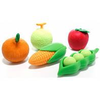Набор игровых фигурок IWAKO Овощной, 5 шт