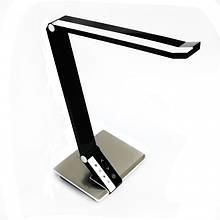 Настольная LED лампа 10W 28LED 12V 420LM 4 температуры чёрная/ LMN089