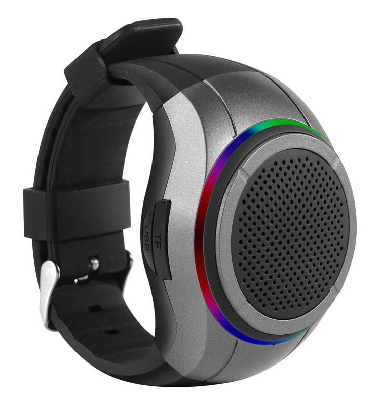 Беспроводная портативная Bluetooth колонка FREWICO X10 Портативная Bluetooth колонка-часы, LED, Серая(SUN0413)