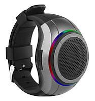 Беспроводная портативная Bluetooth колонка FREWICO X10 Портативная Bluetooth колонка-часы, LED, Серая(SUN0413), фото 1