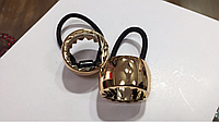 Резинка кольцо для хвоста с золотистая
