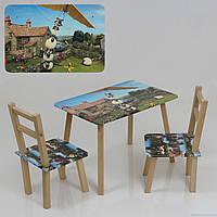 """Столик и два стульчика деревянные """"Барашик Шон"""" С 068"""