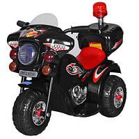 Детский мотоцикл Полиция M 3576-2 с двигателем, фото 1