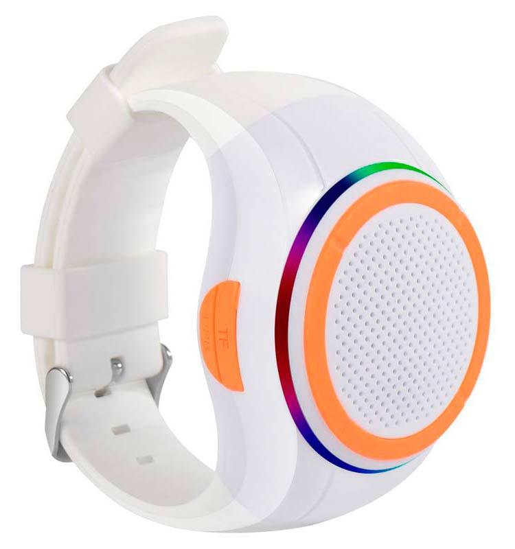 Беспроводная портативная Bluetooth колонка FREWICO X10 Портативная Bluetooth колонка-часы, LED,Белая (SUN0414)