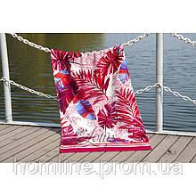Велюровое полотенце Lotus пляжное Paradise Fusya 75*150