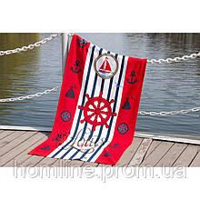 Велюровое полотенце Lotus пляжное Sailor 75*150