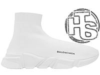 Женские кроссовки Balenciaga Knit High-Top Sneakers All White