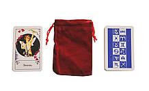 Циганські гадальні карти (в пакетику) з червоним оксамитовим мішечком