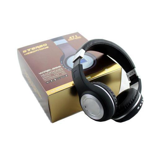 🔥✅ Наушники беспроводные bluetooth microSD FM MP3 471 Black