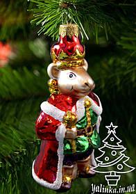 Стеклянная елочная игрушка Король Мышей 0547