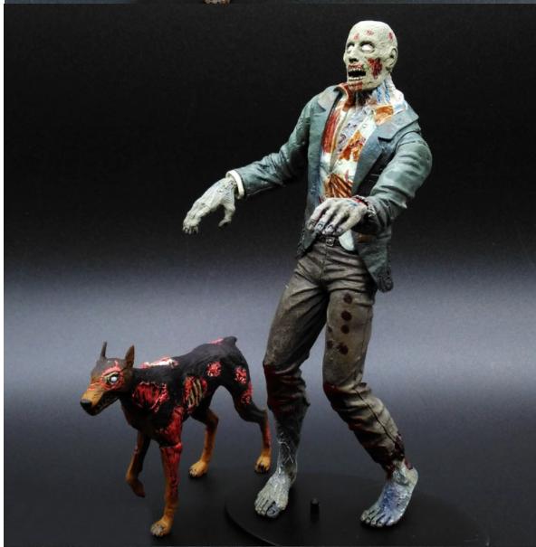 Фигурка Зомби с собакой 18 см. В коробке Resident Evil Фирма NECA