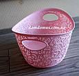 Кошик ажурна Tuppex, Туреччина TP-8054, рожева, фото 2