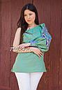 Блуза один рукав вышитая женская блузка моношолдер, вышиванка лен, бохо этно стиль, фото 5