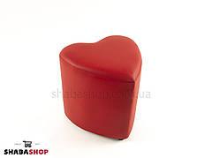 Пуф сердце красный