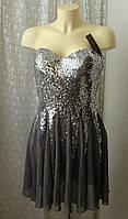 Платье вечернее с пайетками мини Laona р.44 7715, фото 1