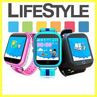 Детские умные gps часы сенсор Smart baby watch Q100s .Спинер в Подарок