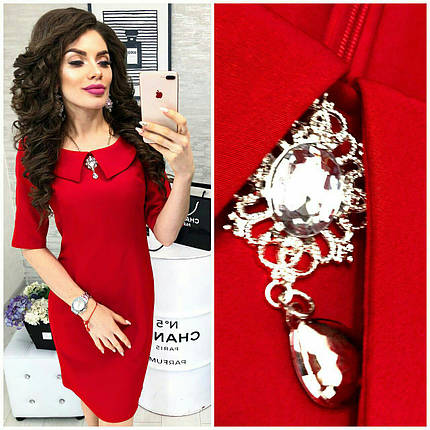 Стильное красное платье, фото 2