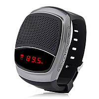 Беспроводная портативная Bluetooth колонка SUNROZ B90 Портативная Bluetooth колонка-часы,Серебристая(SUN0417)