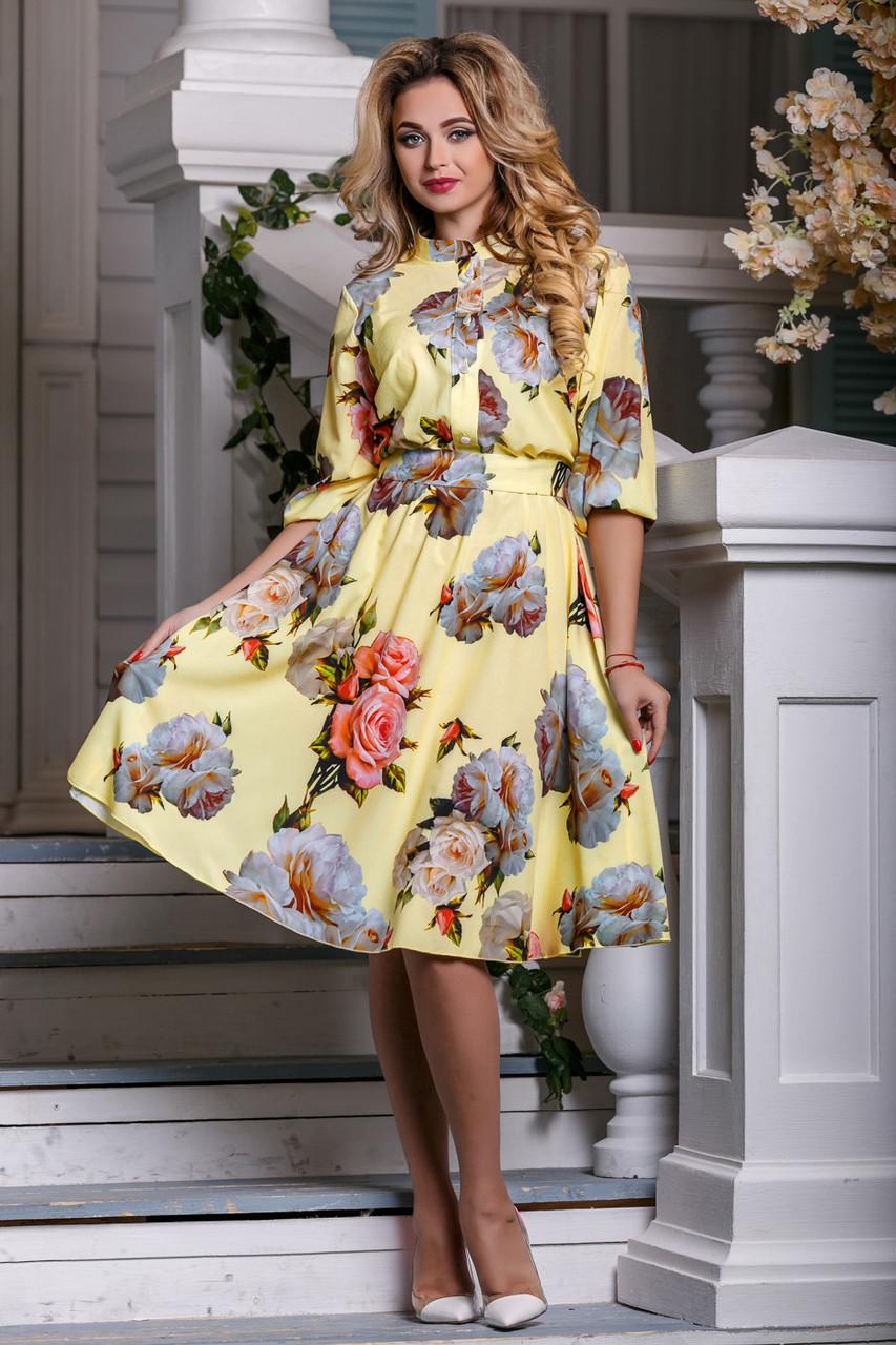 Нежное цветочное платье - 2 расцветки