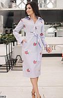 Женское платье с вышивкой 39863 КТ-2532