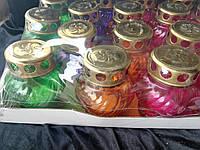 Лампада цветная стекло 11 см 17 шт