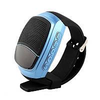 Беспроводная портативная Bluetooth колонка SUNROZ B90 Портативная Bluetooth колонка-часы, LCD, Синяя (SUN0419), фото 1