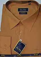 Батальная горчичная мужская рубашка PAN FILO (размеры 47,48,49,50,51)