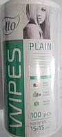 Салфетки одноразовые 15х15см спанлейс, рулон