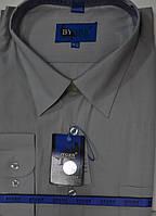 Серая батальная мужская рубашка (размер 49-50)