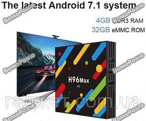 Андроид тв приставка H96 Max H1. Android TV Приставка Android 7.1.1 H96 MAX - H1. Смарт приставка H96 MAX H1