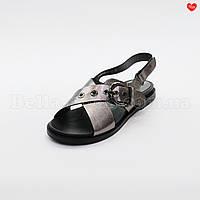 Женские кожаные сандали бронзовые
