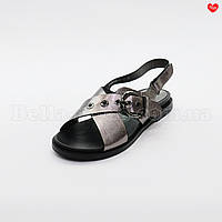 Женские кожаные сандали с пряжкой, фото 1