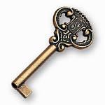 NE-231-G04 Ключ мебельный классический, античная бронза
