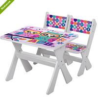 """Столик и два стульчика деревянные """"Совы"""" М 2100-11 ***"""