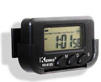 Часы автомобильные Kenko KK 613 D + секундомер, электронные универсальные часы