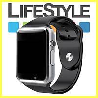 Умные часы-телефон Smart Watch А1 + Apple в Подарок Черный
