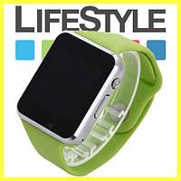 Умные часы-телефон Smart Watch А1 .Спинер в Подарок Зеленый