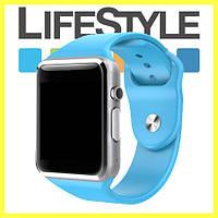 Умные часы-телефон Smart Watch А1 .Спинер в Подарок Синий