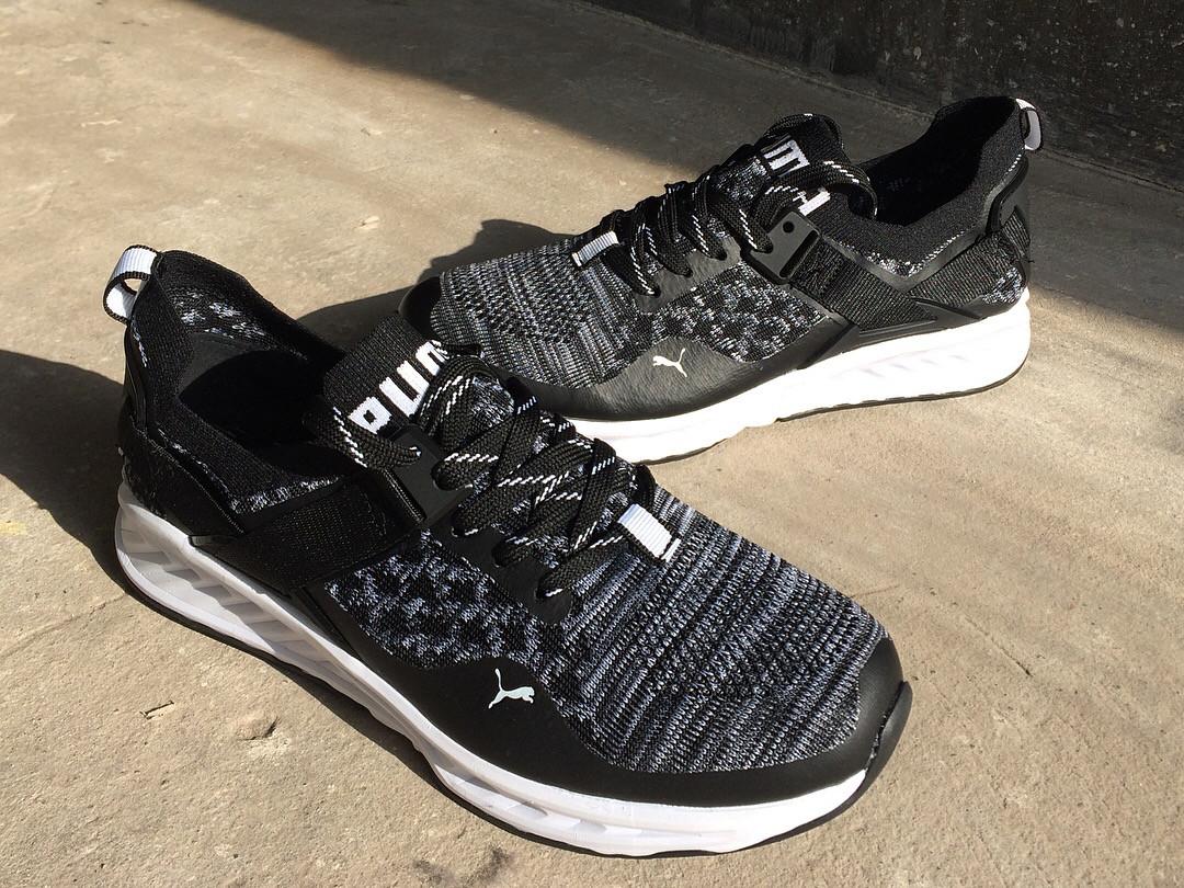 Мужские кроссовки Puma IGNITE.Черные,сетка