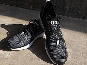 Мужские кроссовки Puma IGNITE.Черные,сетка, фото 3