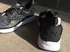 Мужские кроссовки Puma IGNITE.Черные,сетка, фото 2