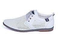 Мужские кожаные летние туфли KungFu grey