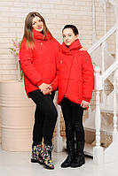 Куртка детская для девочки Вероника красная весна 134,140,146,152см - 36,38,40,42р