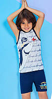 Пижама (домашний костюм) для мальчика ТМ Roly Poly р.1-4 года (4 шт в ростовке) синий
