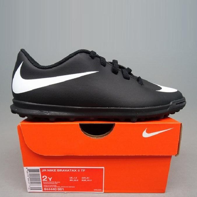 Детская футбольная обувь (сорокoножки) Nike TF Bravatax II Jr