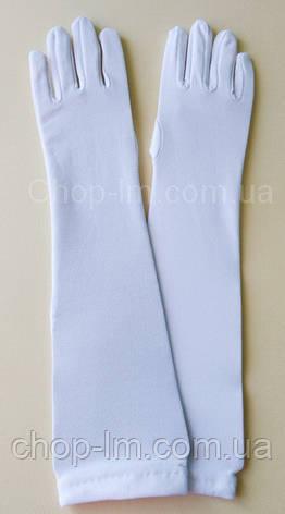 Перчатки женские вечерние, карнавальные, белые , фото 2