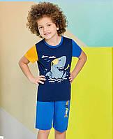 Пижама (домашний костюм) для мальчика ТМ Roly Poly р.5-8 лет (4 шт в ростовке) синий