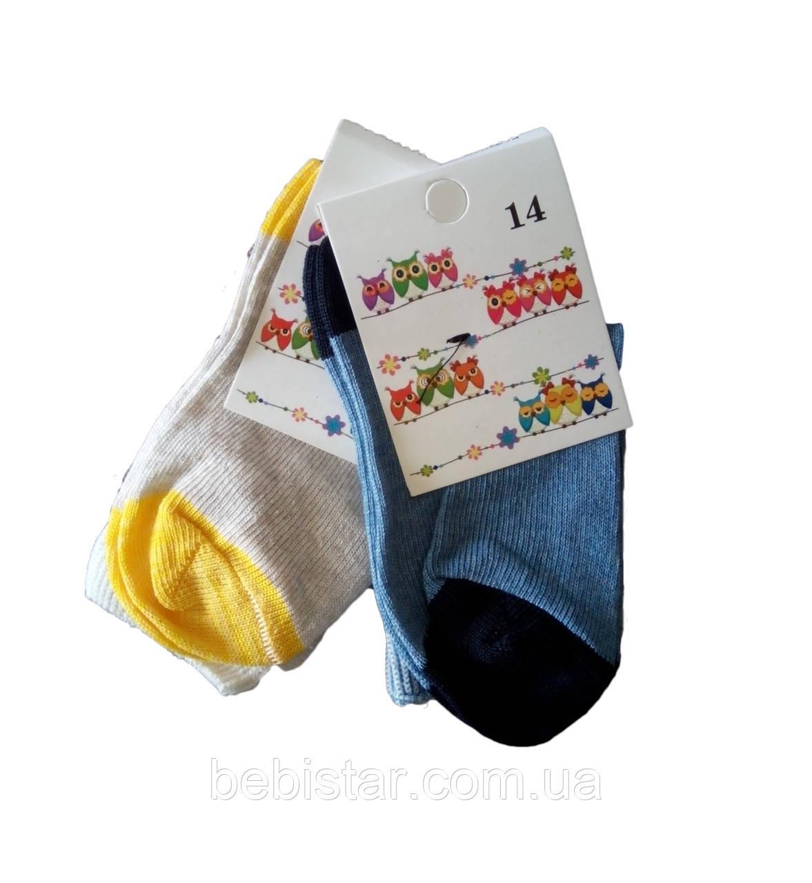 Носки для мальчика синие и серые 1-2 года